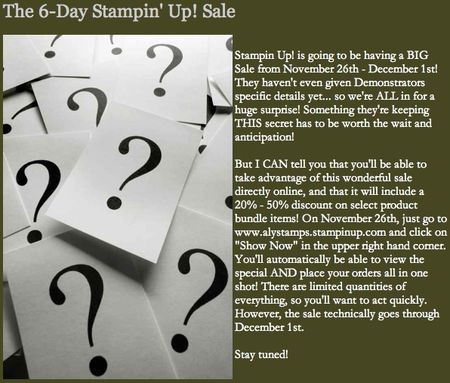 6-Day Stampin' Up! Sale