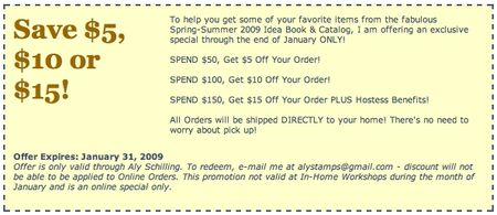 New Catalog Coupon